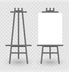 wooden easel template vector image