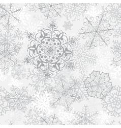 Christmas seamless gray pattern vector image vector image