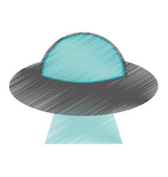 drawing ufo aliens saucer space vector image
