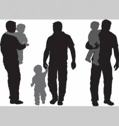 father and child vector image vector image