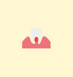 flat icon parodontosis element vector image vector image