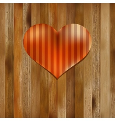 Heart shaped Valentines Day symbol EPS8 vector image