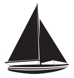 isolated vessel toy vector image vector image