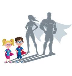 Kids Superhero Concept vector image