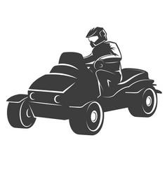 quad bike isolated on white vector image