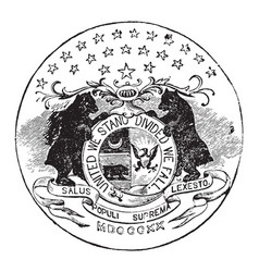the official seal of the us state of missouri in vector image