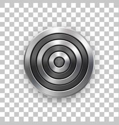 abstract technology circle metal badge vector image