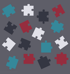 concept scattered pieces vector image