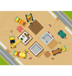 Construction Top View vector image vector image