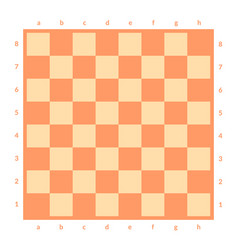 empty chessboard isolated board for chess or vector image vector image