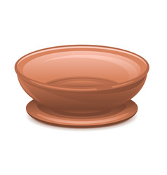 empty clay plate with stand vector image vector image