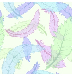 Feather seamless pattern vector image