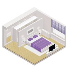 isometric bedroom icon vector image vector image