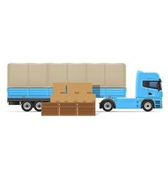 truck semi trailer concept 02 vector image vector image