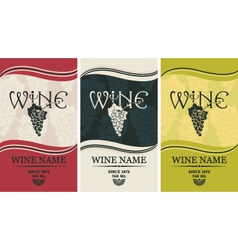 Wine label set vector image
