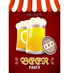 Beer party flyer vector image vector image