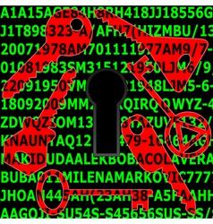Password security vector image