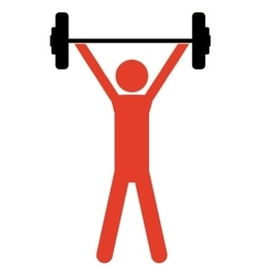 pictogram colorful with man weightlifting up vector image vector image