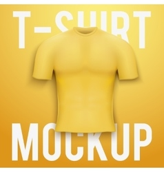 Yellow t-shirt on background Product mockup vector image vector image