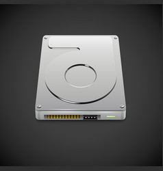 Data Storage Hard Disc Drive Icon vector image vector image