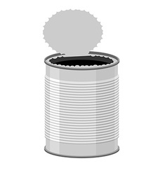 Open a tin can Tin on a white background vector image