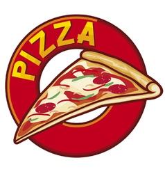 pizza label design vector image