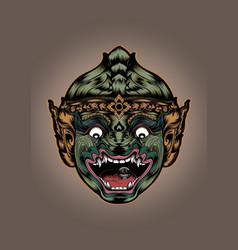 thai thailand monkey hanuman mask actors mask head vector image