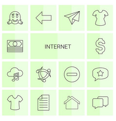 14 internet icons vector