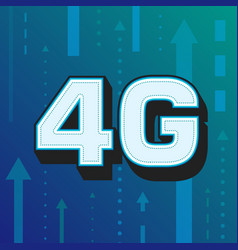 4g high speed internet technology vector image