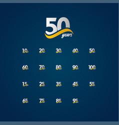 50 years anniversary celebration elegant white vector