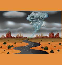A storm hit desert vector