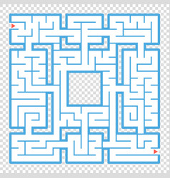 Abstract square maze an interesting game for vector