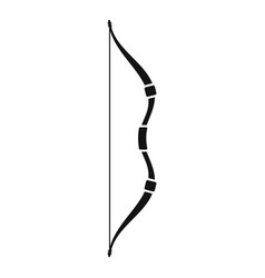 Ancient bow icon simple style vector
