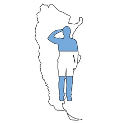 Argentinian salute vector image vector image