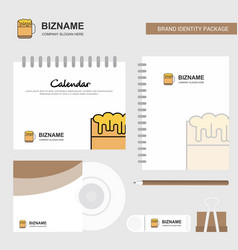 beer logo calendar template cd cover diary and vector image