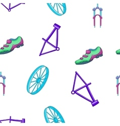 Bicycle equipment pattern cartoon style vector
