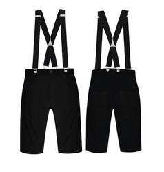 Black short pants with suspenders vector