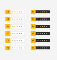 Buyer star rating set of symbol vector