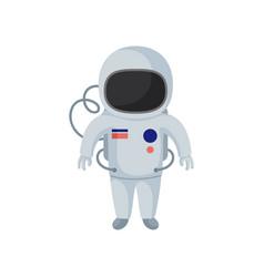 Cartoon character cosmonaut astronaut in vector