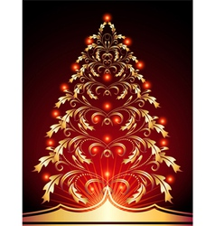 christmas golden vector image