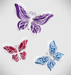 Colorful paper butterfly origami vector