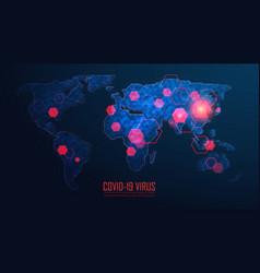 Coronavirus global pandemic outbreak vector