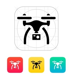 Drone with camera icon vector