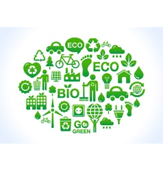 Eco friendly world- icons set vector image