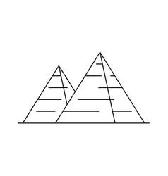 egyptian pyramid icon vector image