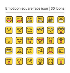 Emoticon square vector