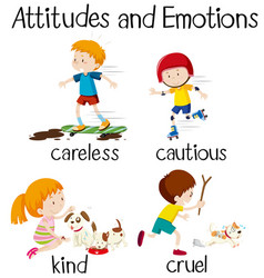 English word attitudes and emotions vector