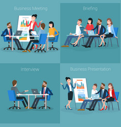 flat design office vector image