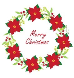 Floral wreath christmas vector
