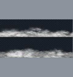 fog or smoke seamless border vector image